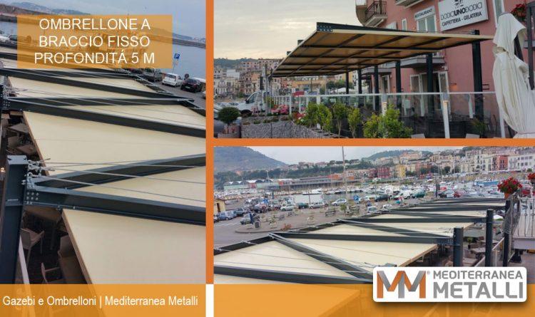 Realizzazione gazebo ad ombrellone per esterni ristorante