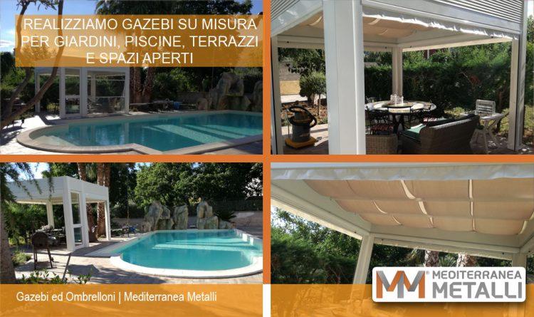 Produzione Gazebo su misura per giardino con piscina