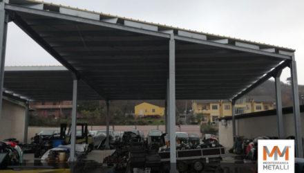 Tettoia zincata per ampliamento deposito: guarda i nuovi lavori