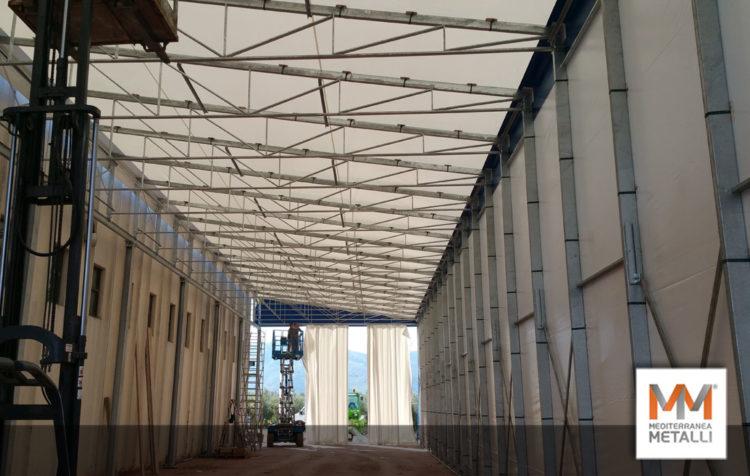 Tunnel modello zoppo in acciaio zincato: guarda i nuovi lavori