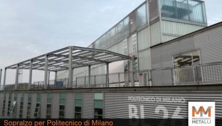 Sopralzo con copertura coibentata, politecnico di Milano: guarda i nuovi lavori
