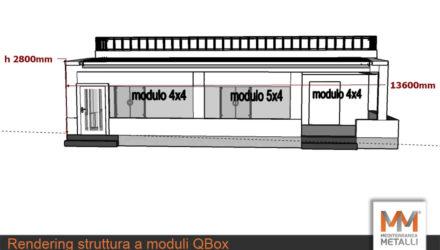 Rendering struttura a moduli Qbox: guarda i nuovi lavori