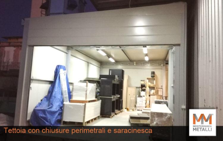 Tettoia con chiusure perimetrali: guarda i nuovi lavori