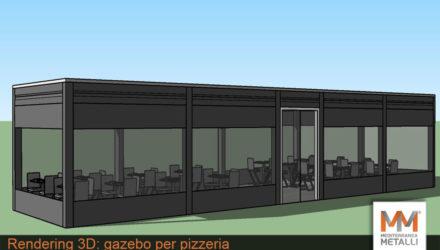 Rendering 3D gazebo per pizzeria: guarda i nuovi lavori