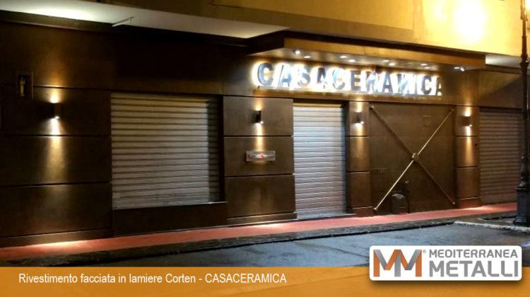 Rivestimento facciata in acciaio corten CASACERAMICA: guarda i nuovi lavori