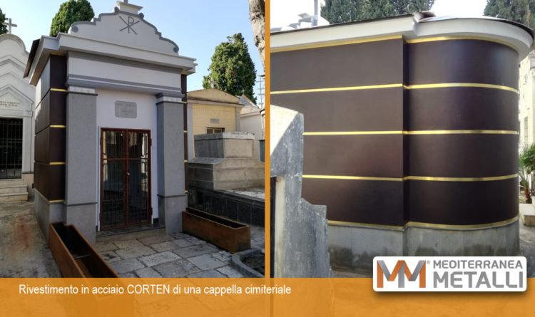 Rivestimento in acciaio CORTEN cappella cimiteriale: guarda i nuovi lavori